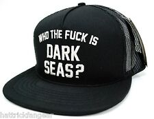 LOSER MACHINE CO. WTFI DARK SEAS  MESH BACK SNAPBACK  CAP/HAT - BLACK - OSFM