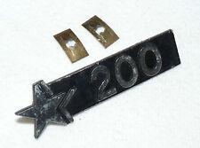 Vespa Cosa 200 GS - Emblem chrom Schriftzug Handschuhfach - original Piaggio