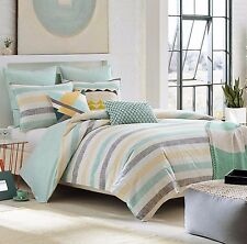 KAS ROOM AUSTRALIA GRETA 5PC SET, 1 QUEEN DUVET COVER, 2 QUEEN 2 EURO SHAM TEAL