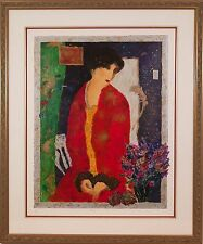 "Roy Fairchild-Woodard (British, 1953-) ""Anna"" Original Serigraph Print Signed"