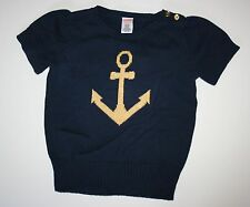 New Gymboree Cape Cod Cutie Line Sparkle Anchor Sweater Top size 7-8 Year NWT