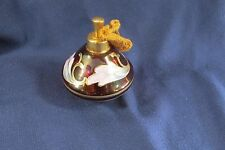 Vintage Hand Painted Cranberry Glass Perfume Bottle