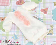 ☆╮Cool Cat╭☆62.【NK-48】Blythe Pullip Lovely Clothes # White(Pink Lace Flower)