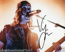 "Vic Fuentes singer of Pierce the Veil band Reprint Signed 8x10"" Photo #1 RP"