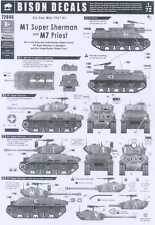 Bison Decals 1/72 SIX DAY WAR 1967 Part 1 M1 SUPER SHERMAN TANK & M7 PRIEST