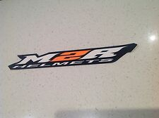 M2R MOTORCYCLE RACING HELMET BIG 285MM LONG STICKER HONDA YAMAHA HARLEY KTM