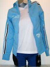 ASICS Femmes Hoodie sweat taille xs (32/34) bleu nouveau Jacket pérou