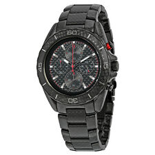 Michael Kors Jetmaster Black Carbon Fiber Chronograph Dial Mens Watch MK8455