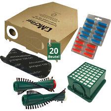 20 Staubsaugerbeutel Filter Duft Bürsten passend für Vorwerk Kobold VK 130 131