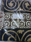 JACQUARD COTTON LOOM WOVEN FLORAL THROW 46 X 60 INCHES USA NEW