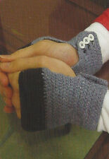 Crochet Pattern ~ ADULT FINGERLESS GLOVES ~ Instructions