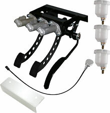 Universal Top Mount Cockpit Fit Hyd Clutch Race Pedal Box Silver Kit OBPVIC20