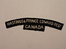 INSIGNE BADGE COMMONWEALTH HASTINGS & PRINCE EDWARD REGT CANADA