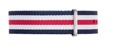 Daniel Wellington DW00200016 Watchband Canterbury Red Blue White 20mm RRP $49