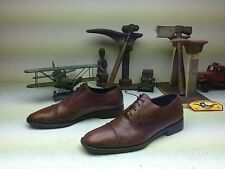 CRAFTED IN ITALY COLE HAAN CITY CAP TOE BROWN LEATHER  SHOESLACE UP SIZE 12 D