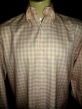 EQUILIBRIO ITALIA Multi-Color Pin-Check Button-Down Italian Cotton Shirt Size L