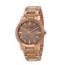 BU9034 Burberry Rose Gold Large Check Unisex Watch New on SALE