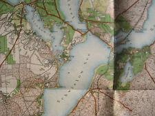 Landkarte Berlin Umgebung Blatt 9  Werder ca 1914 Beelitz Landesaufnahme Geltow