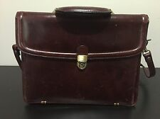 Vintage WILSONS Leather Shoulder Messenger Cross Body Bag Briefcase