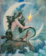 Lighted Mermaid Art Ornament 5x5 with hanger 72699 NEW Radiance Lighted Picture
