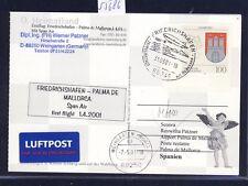 55686) SPAN AIR FF Friedrichshafen - Palma Spanien 1.4.01, Kte SST Zeppelin NT