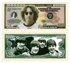 John Lennon Novelty One Million Dollar Bill Beatles