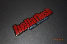 HellaFlush Embossed Metal Badge Emblem Sticker Logo