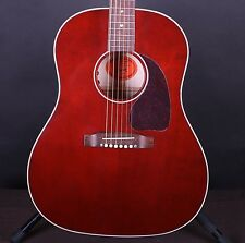 Gibson J-45 Flamed Maple Edition Red Stain Acoustic/Electric Guitar w/ Case