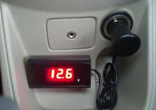 8V-30V Digital Red LED Car Auto Boat Vehicle Battery Voltage Gauge Volt Meter