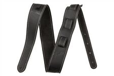 Fender Monogrammed Leather Guitar Strap - Black