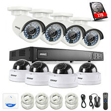 ANNKE 8CH HD 1080P H.264+ NVR 2MP IP Network PoE Camera Home Security System 1TB