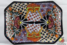 "11""x8"" Talavera Octagonal Dish Pottery by Castillo. Spend 100+ get 30% OFF"