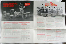 1965 KUHLS Boat Marine Products Advertising, Glue, Cement, Fiberglass Price List