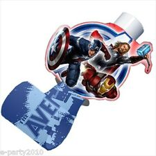 AVENGERS BLOWOUTS (8) ~ Birthday Party Supplies Paper Favors Thor Iron Man Blue