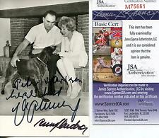 MAX SCHMELING BOXER BOXING & ANNY ONDRA SIGNED PHOTO AUTOGRAPH JSA AUTHENTICATED
