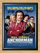 Anchorman Will Ferrell Steve Paul Rudd Signed Autographed A4 Poster Print Photo