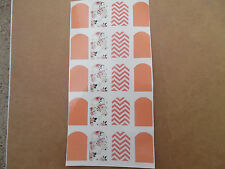 20 water slide nail art coral chevron floral full nail decals trending