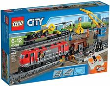 LEGO Heavy Haul Train Set w Power Functions CITY 60098 w Diesel Engine, Backhoe