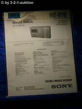 Sony Service Manual MZ B10 Mini Disc Player (#4971)