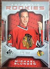 2006-07 MICHAEL BLUNDEN UD SP GAME USED ROOKIE #109 BLACKHAWKS #076/999