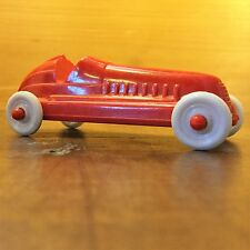 "3"" Antique Red~White RACE CAR TOY Mini Midget Plastic Soap Box Derby Game Piece"