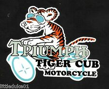 """TRIUMPH TIGER CUB"" MOTORCYCLE STICKER / DECAL ARIEL CAFE RACER TRIUMPH HOG"
