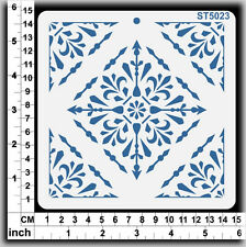 Stencils Templates Masks for Scrapooking, Cardmaking - Tile Pattern ST5023