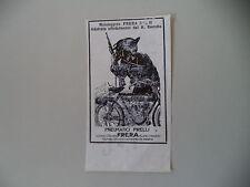 advertising Pubblicità 1912 MOTO FRERA 2 1/4 H