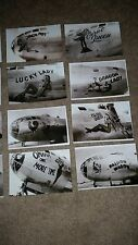 WWII USAAF B-29 BOMBERS & FIGHTERS NOSE ART TINIAN COLLECTION LOT OF 15