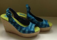 Calypso St Barth for Target Sandals Blue Women's Size 7 Wedge~New Without Tags