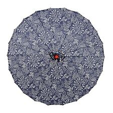"""THY COLLECTIBLES Japanese Chinese Asian Parasol Umbrella 33"""" Beautiful Blue-A..."""