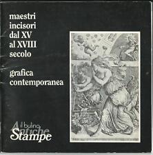 Catalogo vendita grafica e maestri incisori con prezziario - circa anni '70