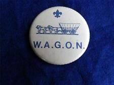 BOY SCOUTS CANADA W.A.G.O.N. VINTAGE BUTTON HORSE & WAGON BUGGY PATCH COLLECTOR
