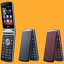 "LG Gentle F580L 3MP 3.2"" 2G 3G 4G Faux-Leather Flip Clamshell Android Smartphone"